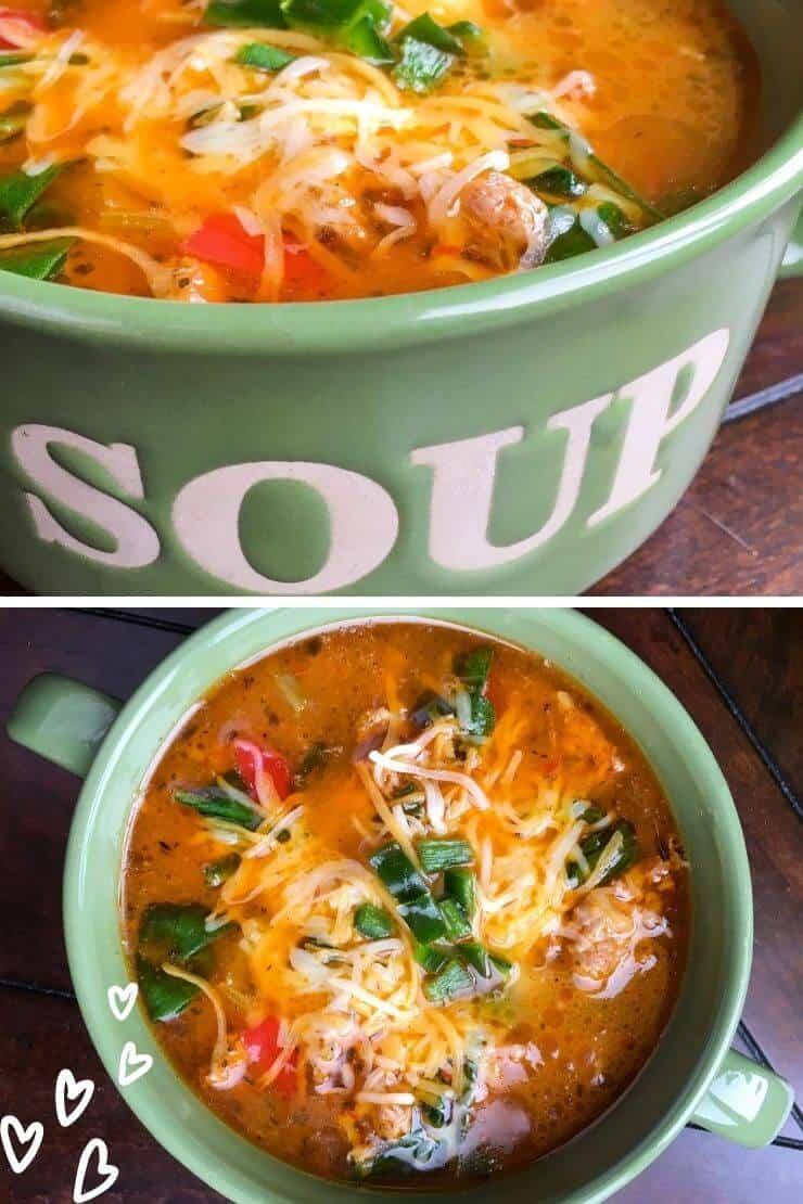 Delicious keto sausage soup