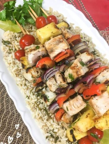 Grilled Pineapple and Swordfish Kabobs