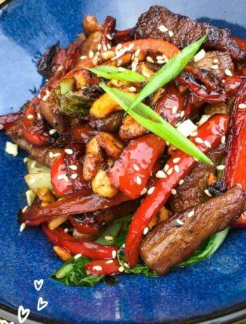 Keto Cashew and Pork Stir Fry Recipe