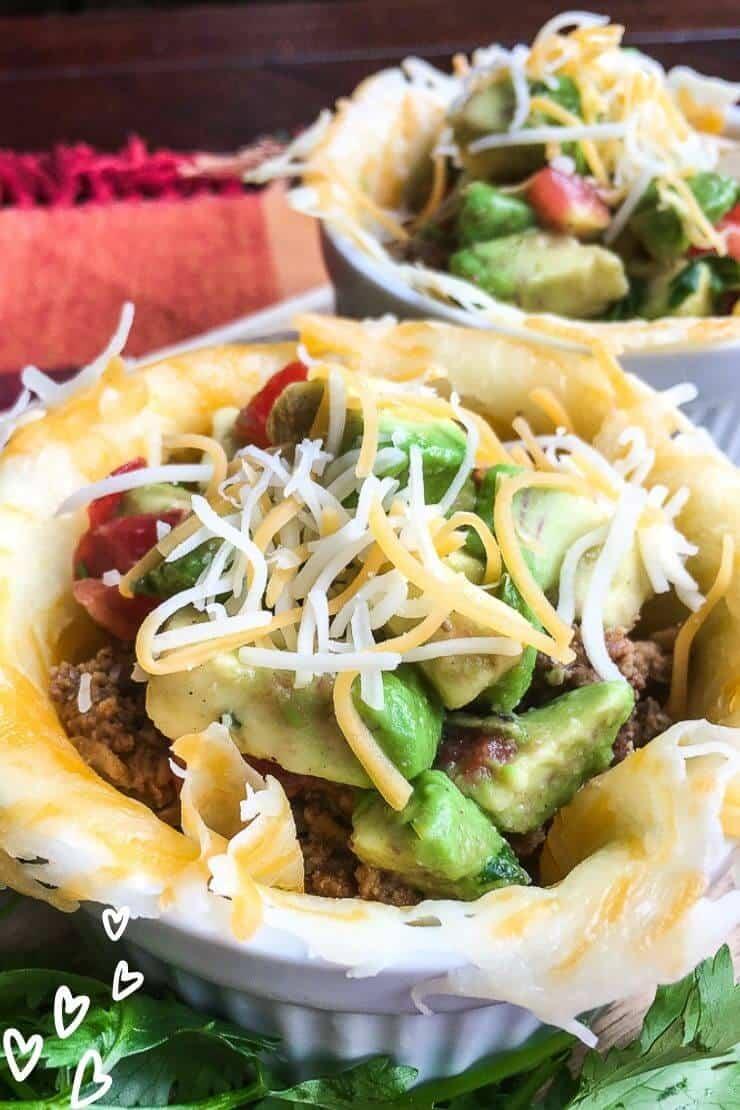 Keto Taco Bowls with Avocado Salsa