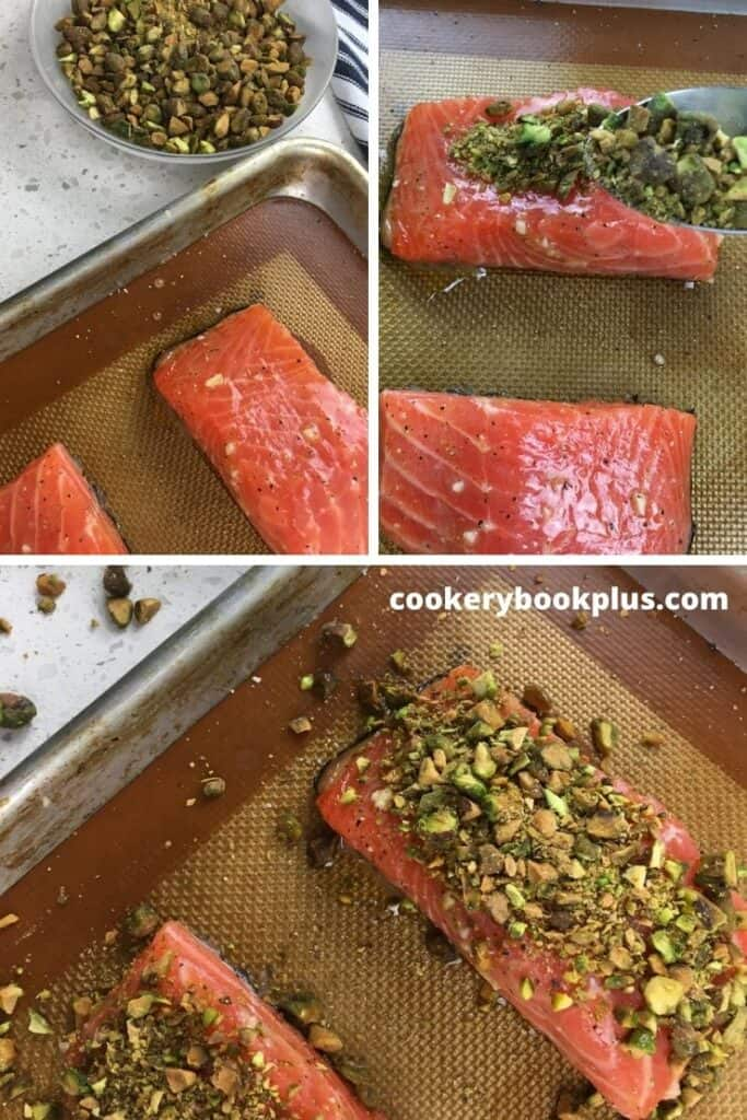 Pistachio-Crusted Salmon with Blistered Cherry Tomatoes - Step 5