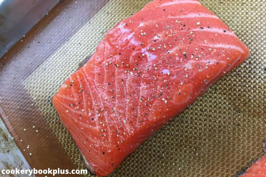 Pistachio-Crusted Salmon with Blistered Cherry Tomatoes - Step 1