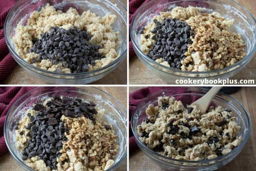 Walnut Chocolate Chunk Cookies - Step 4