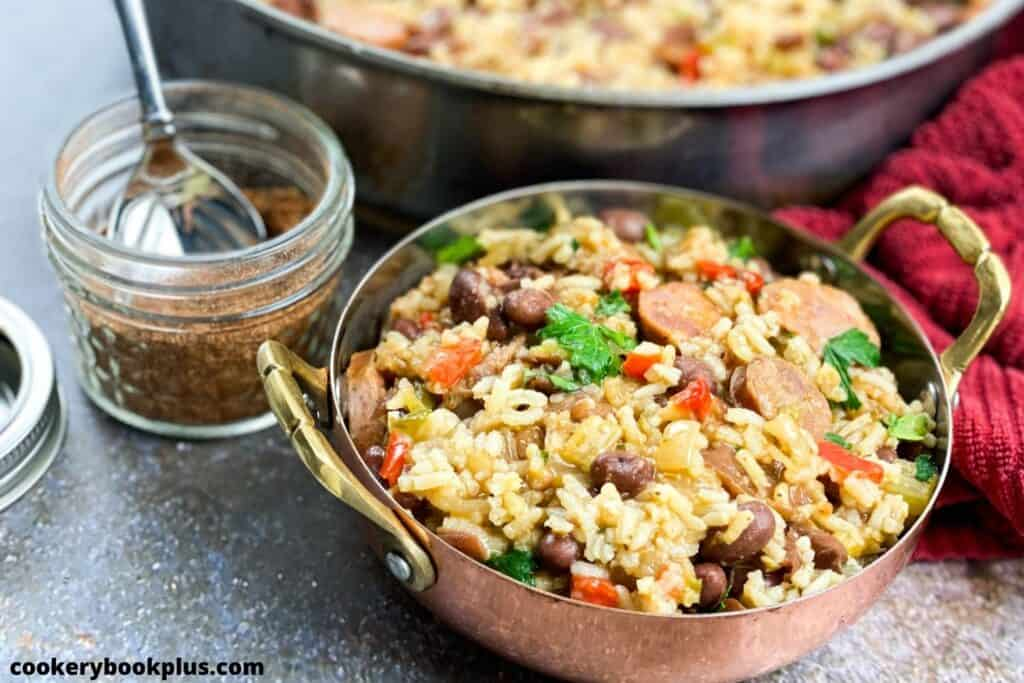 One Skillet Cajun Red Beans & Rice