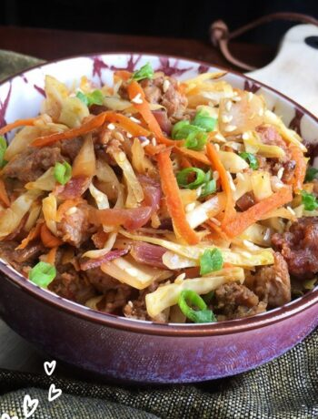 Delicious Keto Egg Roll in a Bowl