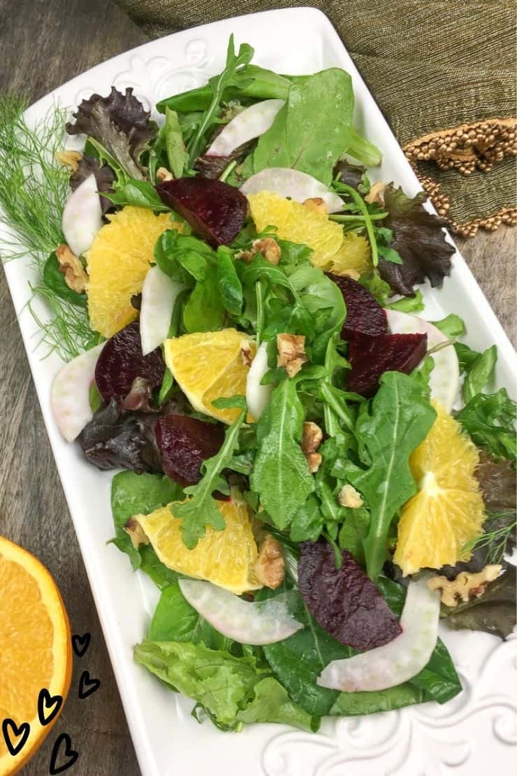 Roasted Beet Salad with Citrus and Fennel