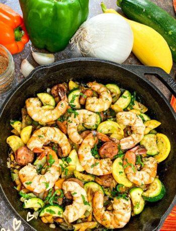 Cajun Shrimp and Vegetable Skillet