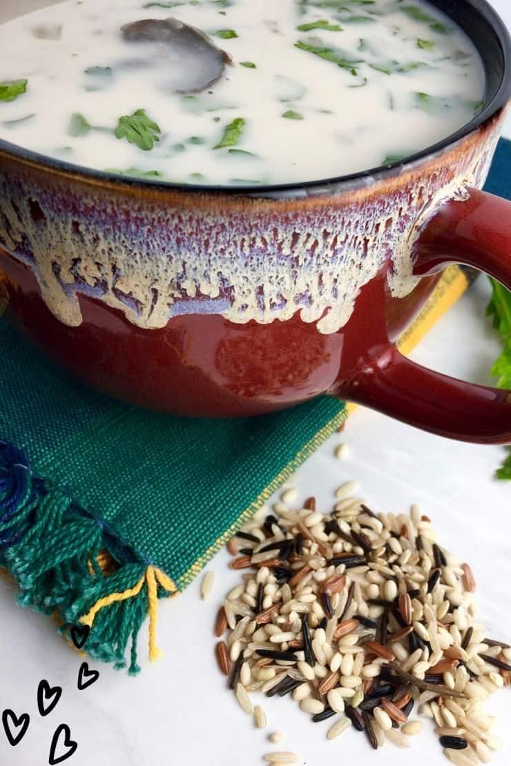 Creamy Wild Rice and Mushroom Soup