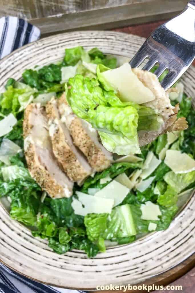 how to make chicken caesar salad