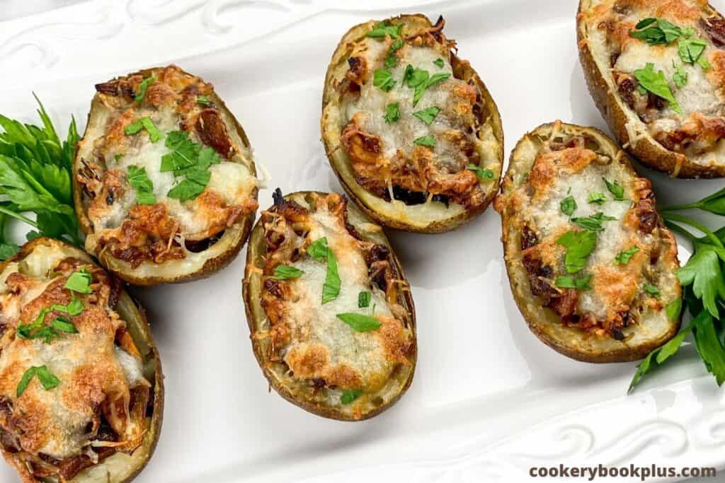 BBQ Chicken Potato Skins Recipe