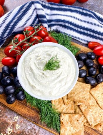 Whipped Feta Dip with Cherry Tomatoes & Olives