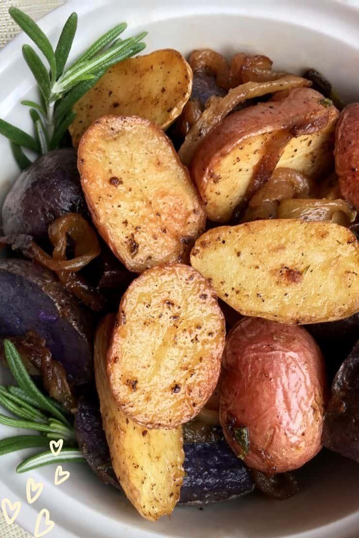 Tri-Color Roasted Fingerling Potatoes