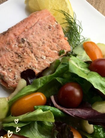 almon Recipe with Herb Salad and Lemon